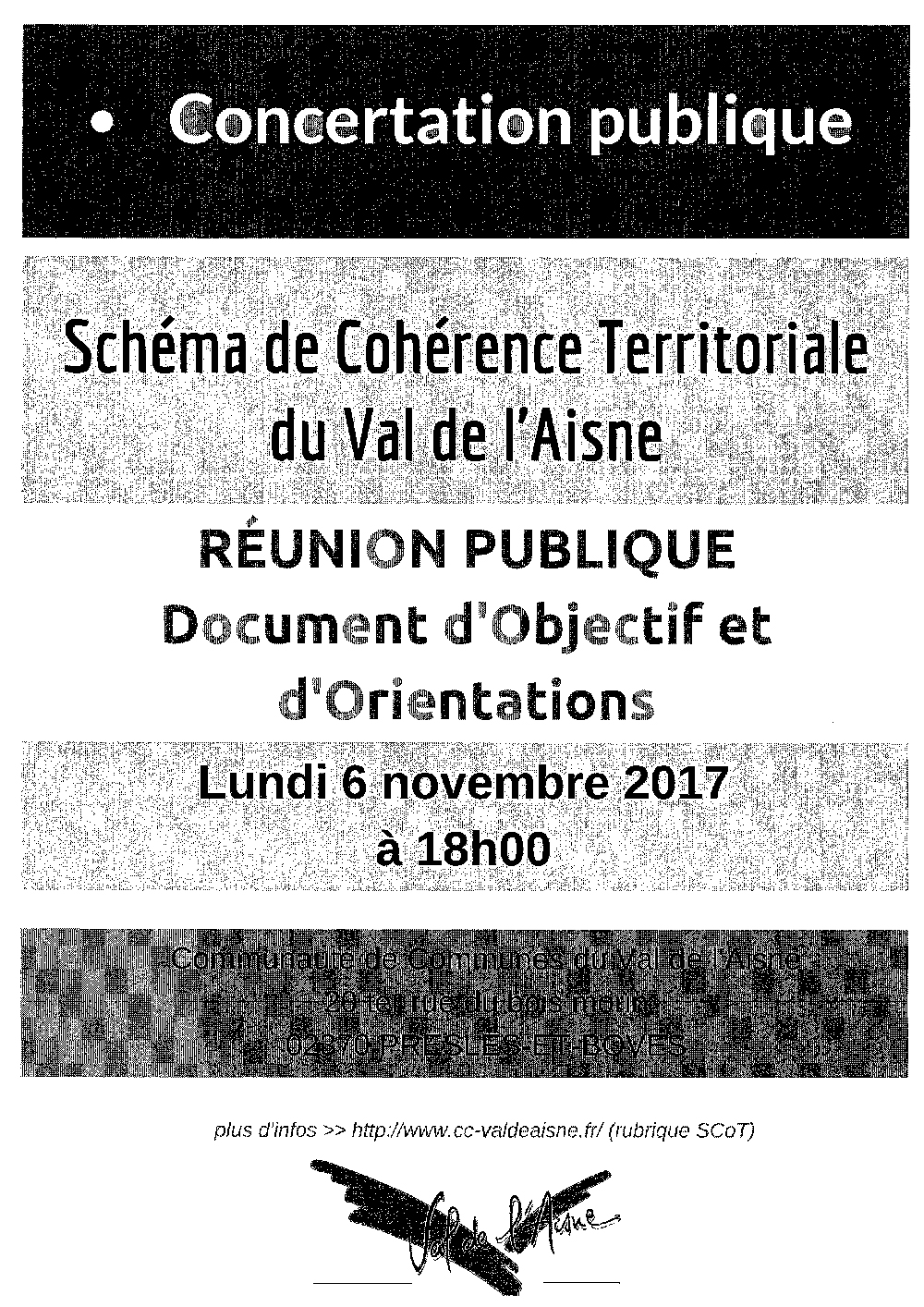 REUNION PUBLIQUE SCOT