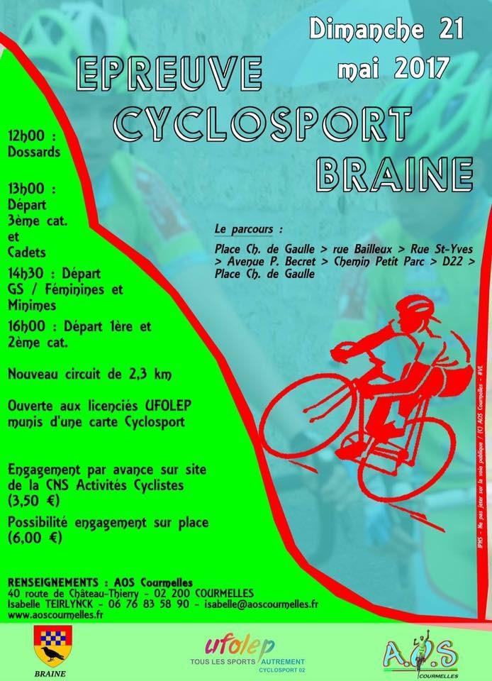 Épreuve cyclosport Braine