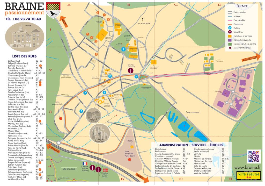 Plan de la ville de braine