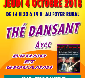 JEUDI 4 OCTOBRE THE DANSANT AU FOYER RURAL