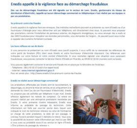 ENEDIS - DEMARCHAGE FRAUDULEUX