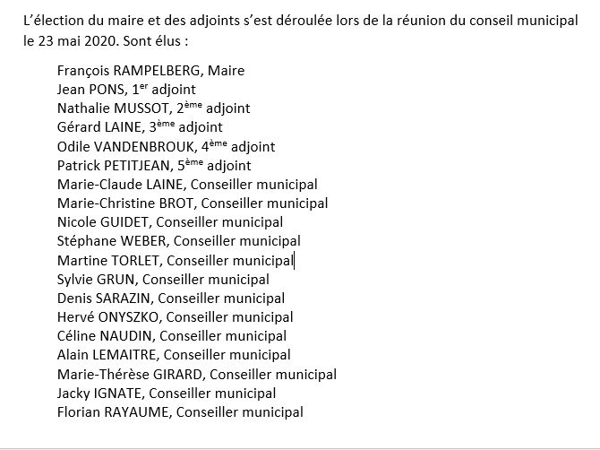 Élection du maire et des adjoints