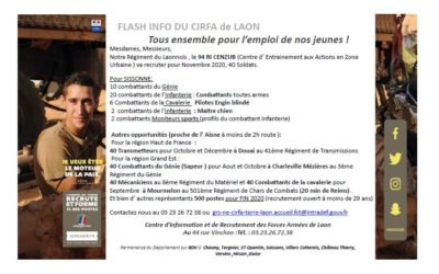 Flash info du CIRFA de LAON