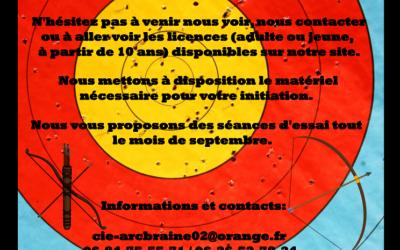 Rentrée 2020 – 2021 – Compagnie d'ARC