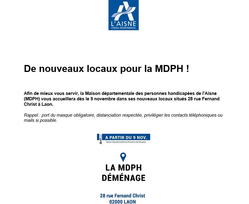La MDPH déménage