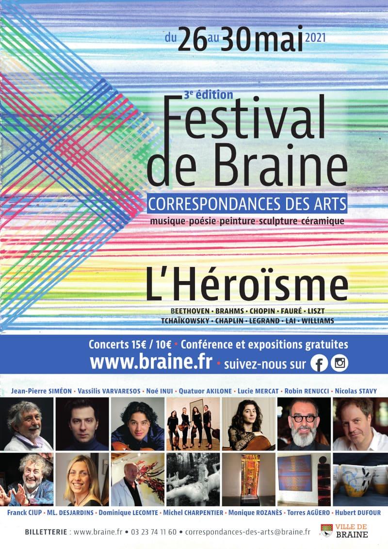 FESTIVAL DE CORRESPONDANCES DES ARTS 2021 BRAINE L'HÉROÏSME
