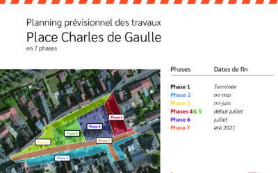 Planning prévisionnel des travaux de la Place Charles Gaulle