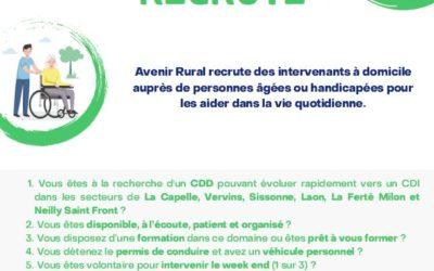 Recrutement Avenir Rural – Service d'aide à domicile