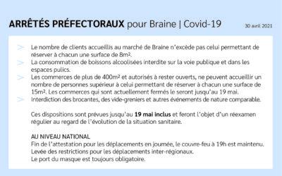 Arrêtés préfectoraux – Covid-19