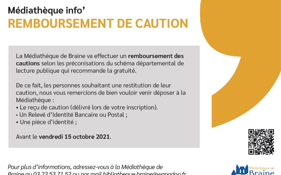 Remboursement des cautions – Médiathèque de Braine
