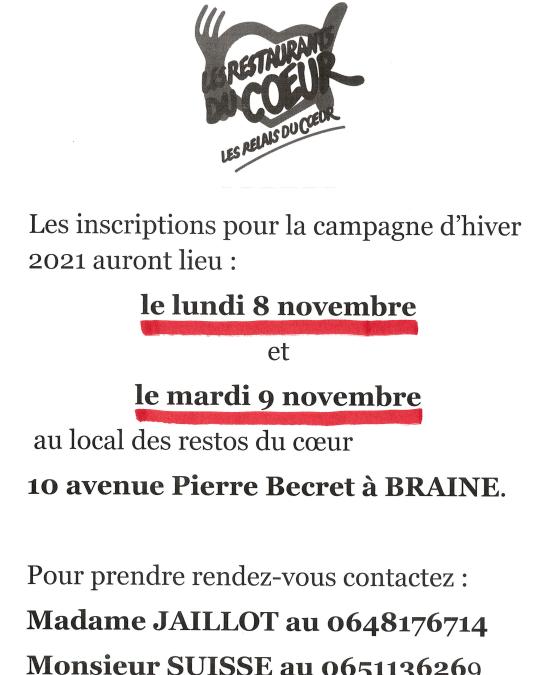 Les Restaurants du Cœur – Campagne d'hiver 2021