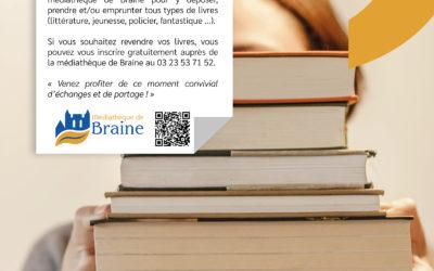 La médiathèque de Braine organise un Troc' Livres – Samedi 30 octobre